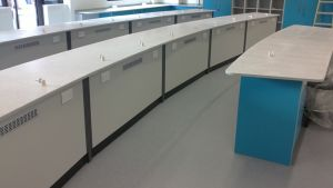 Gerflor Tarasafe Ultra sheet vinyl installed in an Science Laboratory