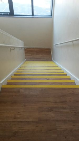 Karndean LVT installed to a local school in their Corridors and Staircase
