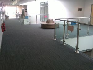 Interface Equilibrium carpet tiles installed at a School