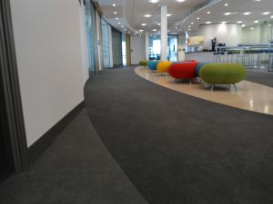 Interface Pallette carpet tiles installed in an office communal area