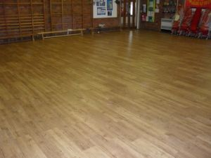 Karndean LVT installed in a school hall