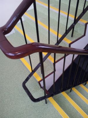 School Staircase with Gerflor Tarasafe Ultra sheet vinyl and Treads UK stair nosings
