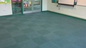 Heckmondwike Supacord carpet tiles installed in a school classroom